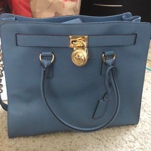 Michael Kors Hamilton Satchel in Light Blue